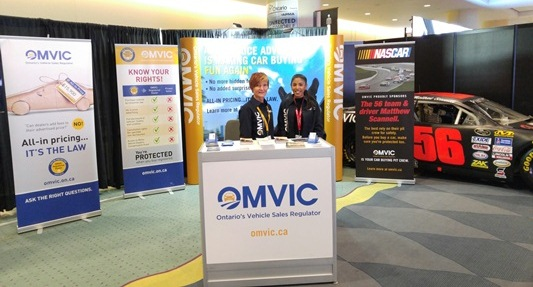 OMVIC Booth at 2016 International AutoShow