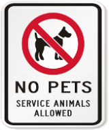 Service Animals Allowed