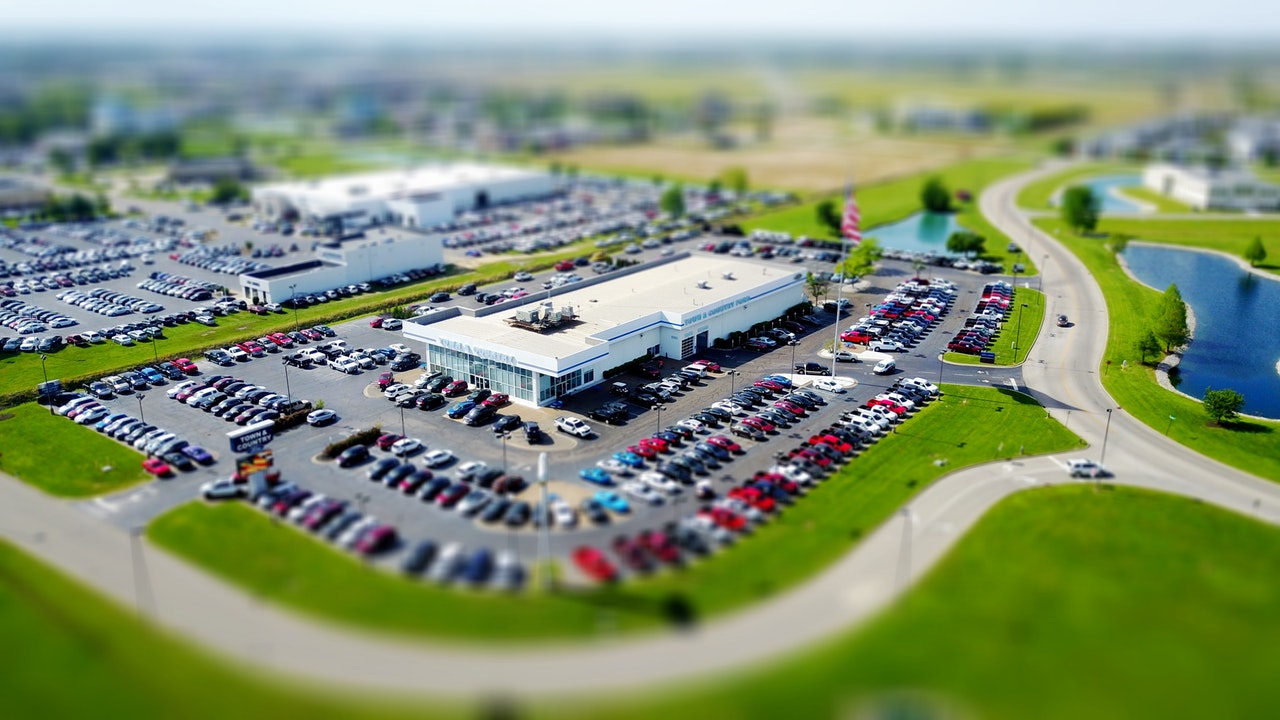 Aerial View Parking Lot
