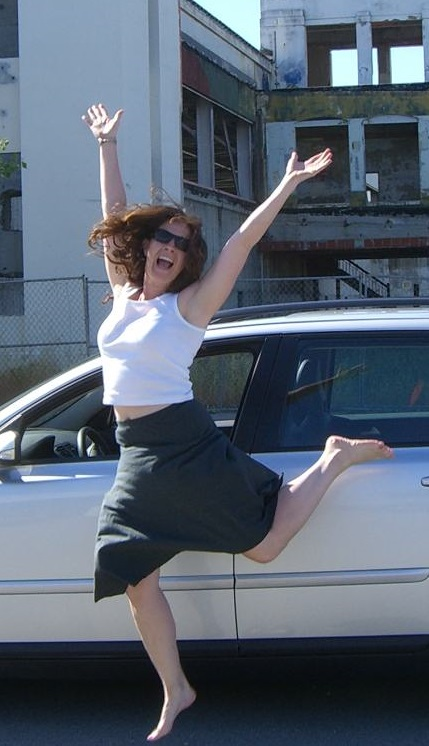 Happy Woman With Car