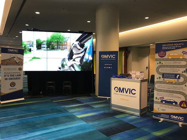 OMVIC's booth at CIAS