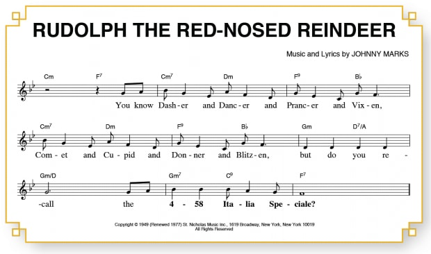 Rudolph the red nosed reindeer song